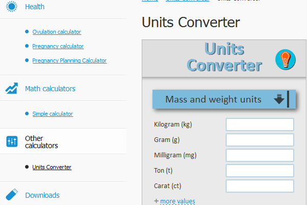 The purposes for which suitable unit Converter?