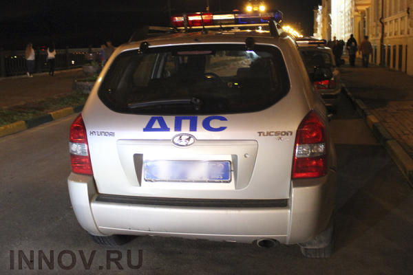 Hot pursuit with stolen car and police has taken place in Kstovsky region, Russia