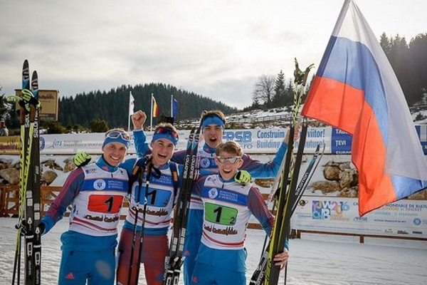 Russian juniors won the relay race at the biathlon world Championships