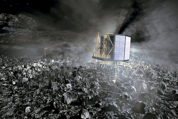 Philae Science Module landed on Surface of the Comet