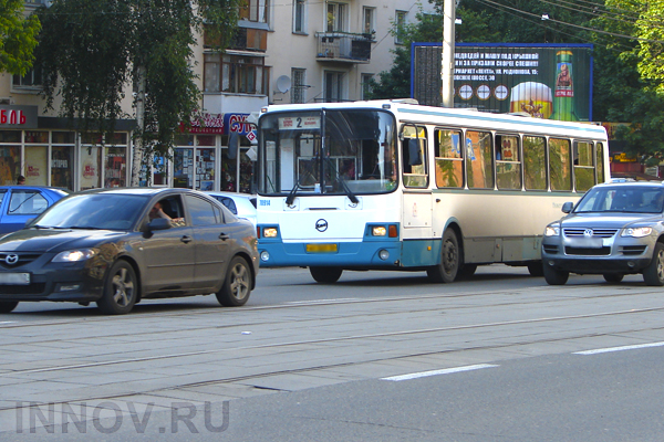 Public transport routes are changed in Nizhny Novgorod, Russia