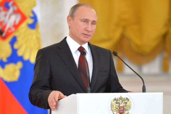 Vladimir Putin, in his annual address to the Federal Assembly