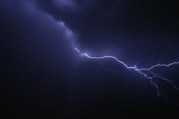 Lightning strike has burnt two houses in Nizhny Novgorod region, Russia