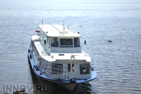 Water-buses have stopped transportation in Nizhny Novgorod, Russia